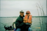 Andrew and Uncle Jimmy enjoying their fishing time together.