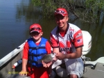 Dylan Naslund and Jeff Brokaw (Husker Bass Angler team member)