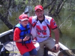 Dylan Naslund with Noel Scott (Husker Bass Angler team member)