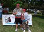 First place winners in the 10 and under age group - Darren Vacek and Kayla Bales.  They also won biggest northern pike a