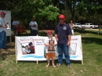 2nd place winners in the 10 and under age group - Dylan and Adam Naslund.