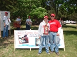 2nd place winners in the 11 to 17 age group - David and John Bauer.  They also won the biggest largemouth bass award.
