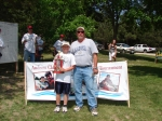 3rd place winners in the 10 and under age group - Jonathon Booker and Mark Kaiser.  They also won the biggest walleye aw