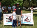 CJ and Marty Hughes - 6th place winners in the 10 and under age group.  These two fished out of kayaks and did an incred