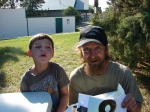 Team No. 8 - Andrew's 6 year old cousin, Mason Drey and Uncle Jimmy Davenport.