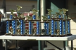 Trophies on display at the tournament dinner/rules meeting on Friday night.
