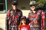 Blaise Weaver and Wil McCabe representing University of Nebraska's Husker Bass Anglers team.  Pictured with Andrew&