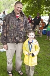 Eric and Colten Javins. Every participant that doesn't win top 3 in their age group, received a fishing medal.
