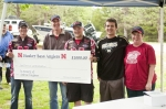 The Claymon family presenting a personal donation to the Husker Bass Anglers team in memory of Andrew.  Andrew dreamed o