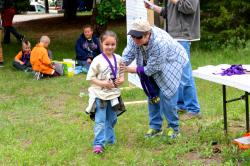 Every youth participant was recognized at the awards ceremony and received a fishing medal.